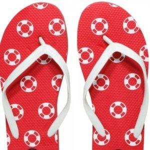 NWT Adorable Lifesaver Flip-Flops